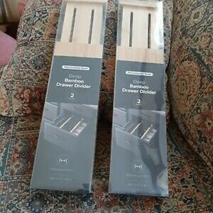 HP💝NIB 2 sets Container Store bamboo drawer linrs